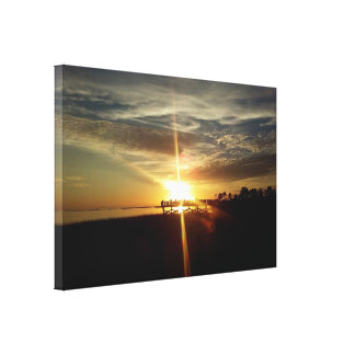 Cedar Key Sunset 8 Canvas Print