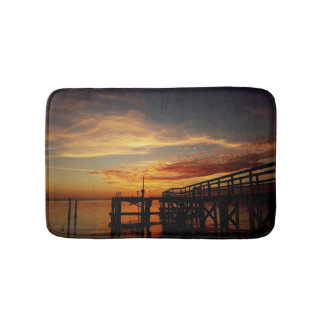 Cedar Key Sunset Bath Rug