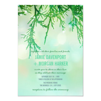 Cedar Needles Wedding Invitation