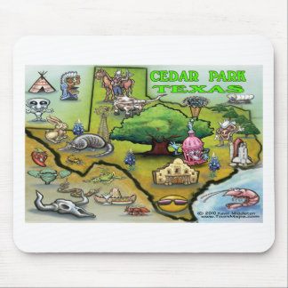 Cedar Park TEXAS Map Mouse Pad