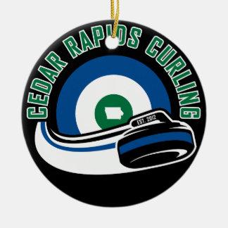 Cedar Rapids Curling Ceramic Ornament
