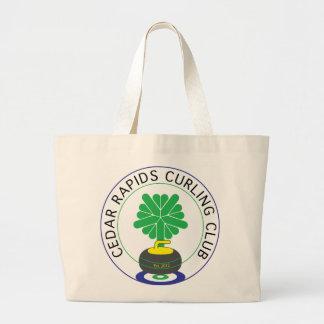 Cedar Rapids Curling Club Large Tote Bag