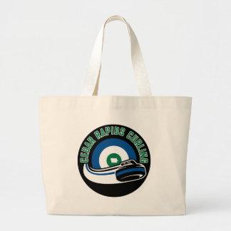 Cedar Rapids Curling Large Tote Bag