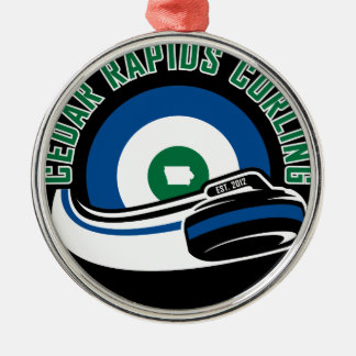 Cedar Rapids Curling Metal Ornament