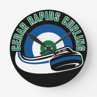 Cedar Rapids Curling Round Clock