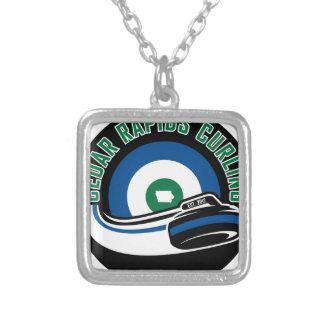 Cedar Rapids Curling Silver Plated Necklace