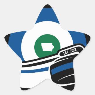 Cedar Rapids Curling Star Sticker