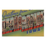 Cedar Rapids, Iowa - Large Letter Scenes Posters