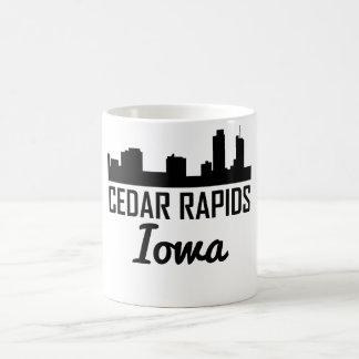 Cedar Rapids Iowa Skyline Coffee Mug