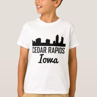 Cedar Rapids Iowa Skyline T-Shirt