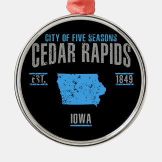 Cedar Rapids Metal Ornament