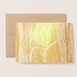 Cedar Textured Wooden Bark Look Foil Card