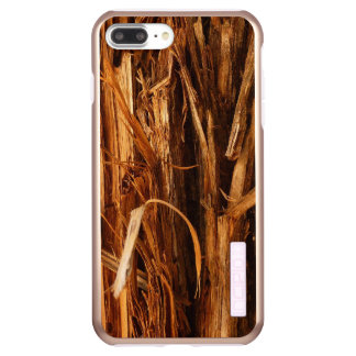 Cedar Textured Wooden Bark Look Incipio DualPro Shine iPhone 8 Plus/7 Plus Case