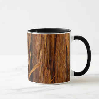 Cedar Textured Wooden Bark Look Mug
