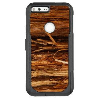 Cedar Textured Wooden Bark Look OtterBox Commuter Google Pixel XL Case