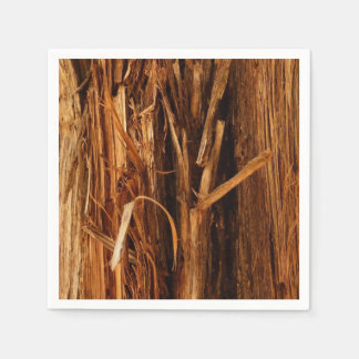 Cedar Textured Wooden Bark Look Paper Napkins