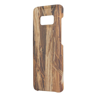 Cedar Textured Wooden Bark Look Uncommon Samsung Galaxy S8 Case