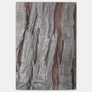 Cedar tree bark texture post-it notes