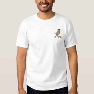 Cedar Waxwing Embroidered T-Shirt