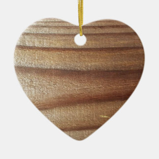 Cedar Wood Ceramic Heart Ornament