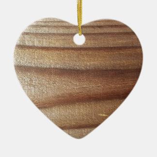 Cedar Wood Ceramic Ornament