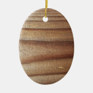 Cedar Wood Ceramic Oval Ornament