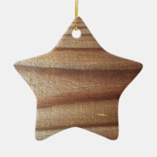 Cedar Wood Ceramic Star Ornament