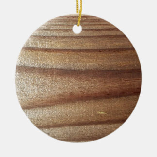 Cedar Wood Round Ceramic Ornament