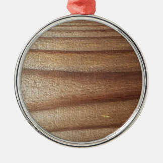 Cedar Wood Silver-Colored Round Ornament