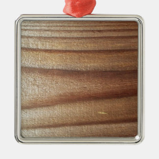 Cedar Wood Silver-Colored Square Ornament