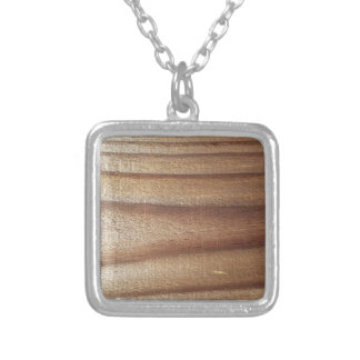 Cedar Wood Silver Plated Necklace