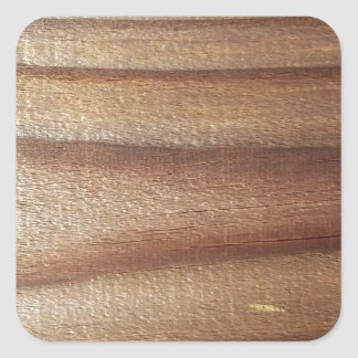 Cedar Wood Square Sticker