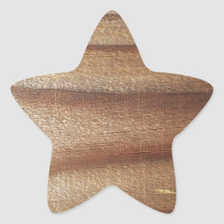 Cedar Wood Star Sticker