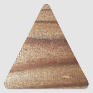 Cedar Wood Triangle Sticker