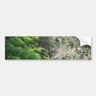 Cèdre et cornouiller rose autocollant de voiture