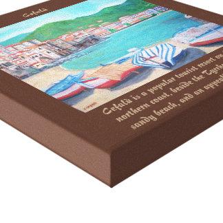 "Cefalu Beach - 12"" x 12"", 1.5"", Single Canvas Print"