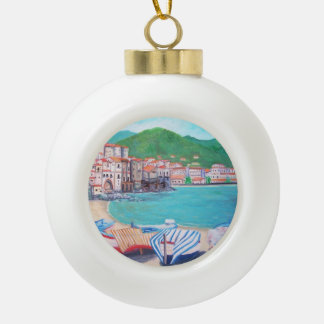 Cefalu Beach - Ceramic Ball Ornament