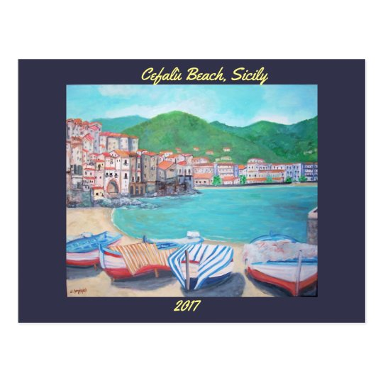 Cefalù Beach - postcard