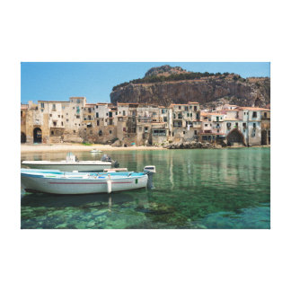 Cefalu town in Sicily Canvas Print