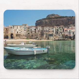 Cefalu town in Sicily Mouse Pad