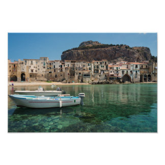 Cefalu town in Sicily Poster