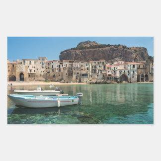 Cefalu town in Sicily Sticker