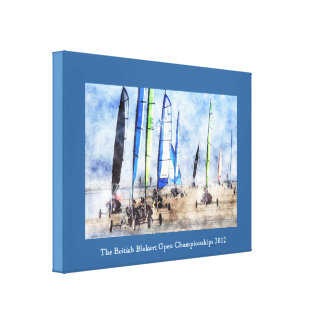 Cefn Sidan Blokart Racing Competition Stretched Canvas Print