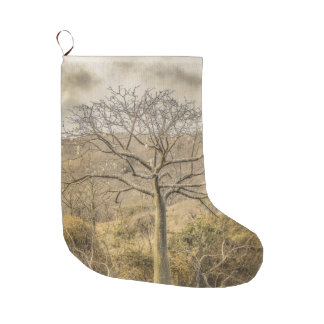 Ceiba Tree at Dry Forest Guayas District - Ecuador Large Christmas Stocking
