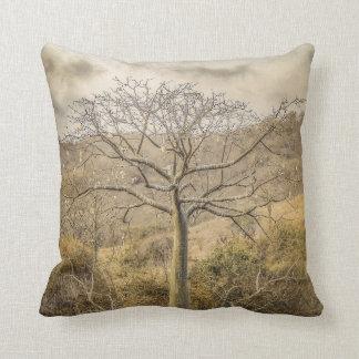 Ceiba Tree at Dry Forest Guayas District - Ecuador Throw Pillow