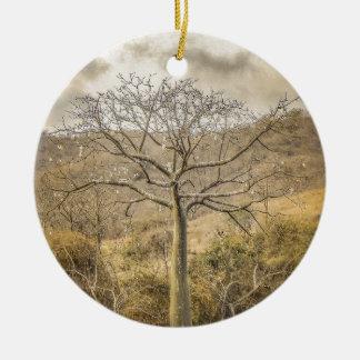 Ceiba Tree at Forest Guayas Ecuador Ceramic Ornament