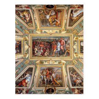 Ceiling decoration Palazzo Vecchio Florence Giorgi Postcard