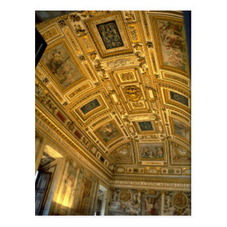 Ceiling detail, Vatican Postcard