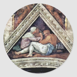 Ceiling Fresco For The Story Of Creation In The si Classic Round Sticker