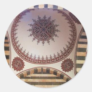 Ceiling in a Turkish Mosque Diyarbakır Round Sticker